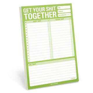 """Get your shit together"" To Do List"
