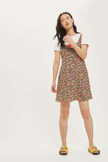 Red Ditsy Floral Print Sundress