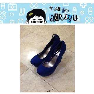 Madden Girl Original Royal Blue Wedge Heels