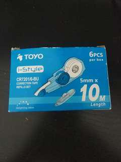 TOYO correction tape refills