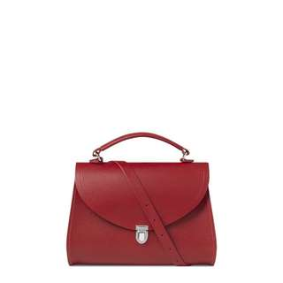 Red Poppy Bag in Saffiano Leather