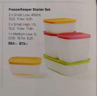Tupperware Freezer Keeper Starter Set