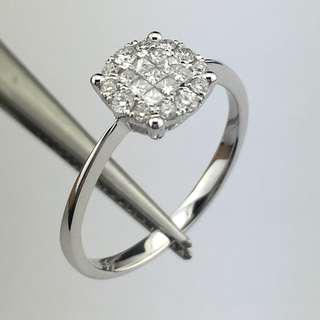 18K白金戒指 30份鑽石 18K Withe gold Ring 0.30ct Diamond