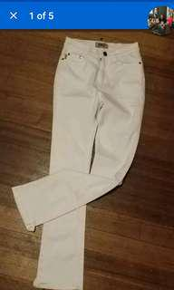 Guess white jeans size 8