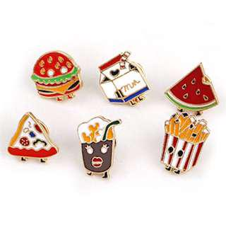 Enamel pins brooch food trendy jewellery hipster