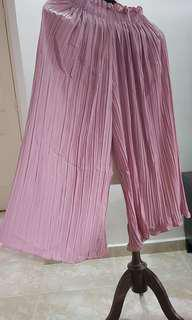 Pleated pants - dusty pink