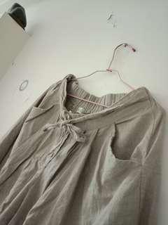 🚚 森女系寬褲裙
