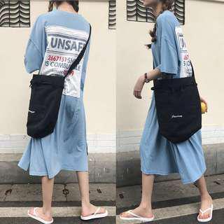 🚚 ins寬鬆t恤裙2018夏季顯瘦BF風長款上衣