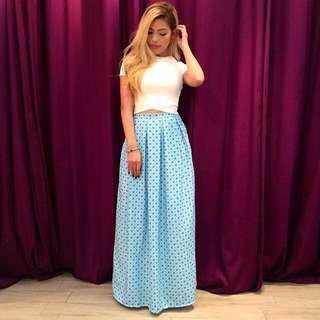 ✨nsa Pleated Maxi Skirt