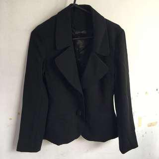 Black blazer thick fabric