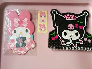 My Melody Envelope & Kuromi Letter Pad