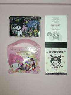 My Melody Stickers, Kuromi letter pad and card holder