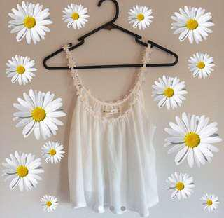 🌼 Sheer daisy crop top 🌼