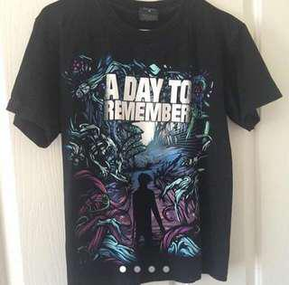 Band t-shirt: A day to remember (authentic merch)