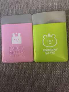 Artbox Korean card case holders set of 2