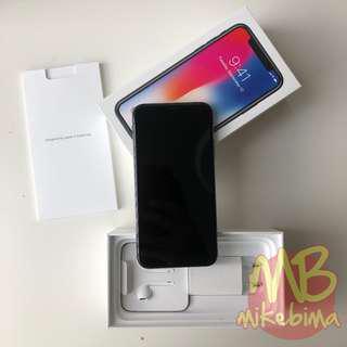 IPhone X 64GB Space Gray mulus resmi Indo, bukti beli lengkap