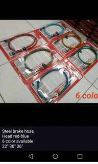 Steal brake hose head red blue