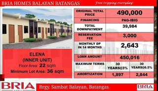 Murang Bahay at Lupa sa Balayan Batangas / only 3,000 reservation fee at 2,600++ per month!