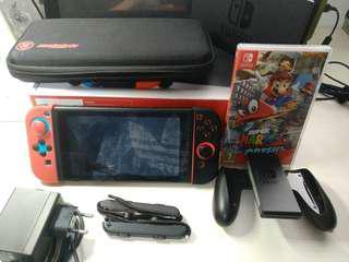 Nintendo Switch Neon Red/Blue + Mario Odyssey