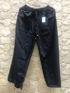 Celana Casual Grosir Black [ stock banyak ex konveksi]