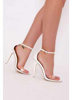 Brand new white studded heels