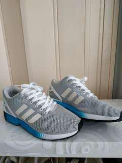 Adidas ZX Flux white and blue shoe