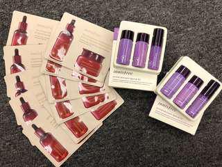 全新 Innisfree Jeju pomegranate essence & cream orchid skincare set 16pcs