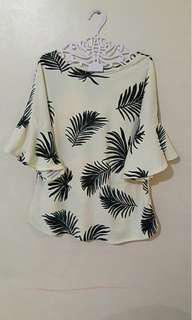 Blouse with bell & slit (PLUS SIZE FIT TO XL-2XL)