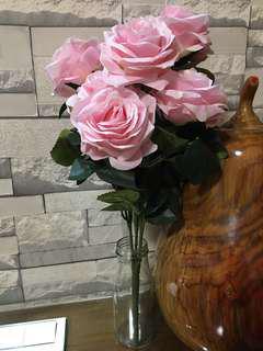 仿真花💐玫瑰花束💐