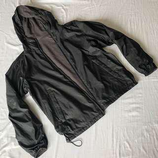 UNIQLO Parka Reversible Black and Gray Large