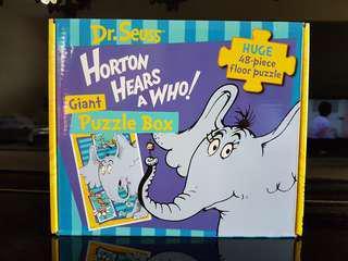 Dr. Seuss Horton hears a Who Giant Puzzle
