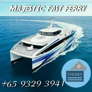 (ALL IN) MAJESTIC FAST FERRY TICKET TO BATAM (E-TICKET) FOR ALL PASSPORT