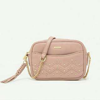 Pedro Dusty Pink Chain Sling Bag