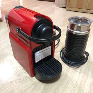 Nespresso Inissia Red & Aeroccino Black