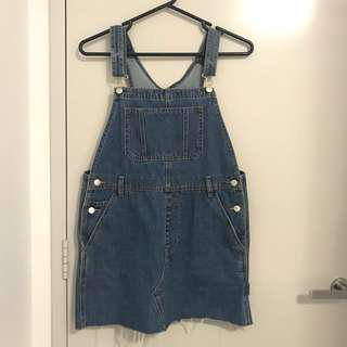 Insight jean denim overall dress