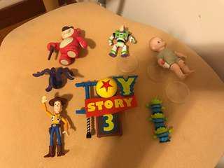 Toys story 反斗奇兵 扭蛋一套 胡迪 三眼仔 巴斯光年 lotso