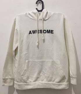 Hoodie white awesome