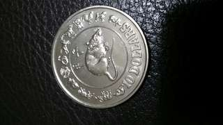 Singapore Coin $10 1984 Rat Year