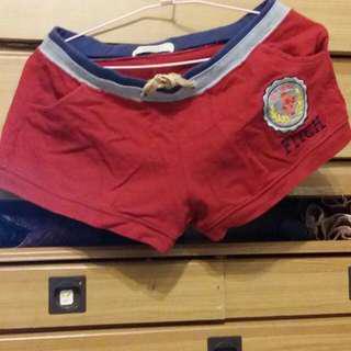 🚚 abercrombie fitch 紅色短褲