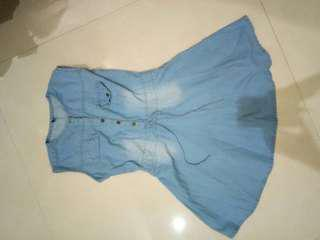 [jual/barter] dress denim jeans navy