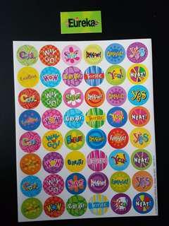 [INSTOCK] BN Success Phrases Small Reward/Merit Stickers (Eureka School)