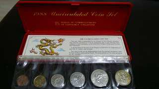 1988 Uncirculated Singapore Coin Set