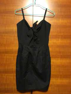 H&M black tie-a-knot cocktail dress