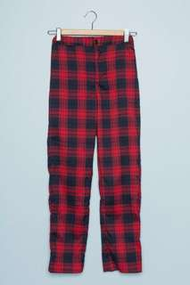 Brandy Melville Red Checkered Plaid Pants