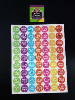 [INSTOCK] BN Chevron Small Reward/Merit Stickers (Teacher Created Resources)