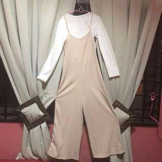 Jumpsuit with white shirt **CUTDOWN PRICE**