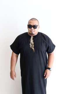 Black Jubah Lelaki Stylish Plus Size