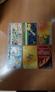 Vintage Singapore EZ-LINK cards