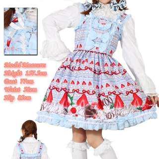 Pastel Blue Strawberry Lolita Dress