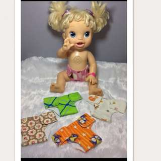 Baby alive diaper cloth
